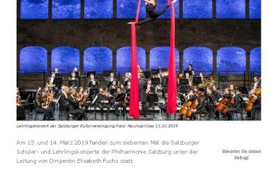 Wenn Lehrlinge Kultur hautnah erleben: Begeisterung beim Salzburger Lehrlingskonzert